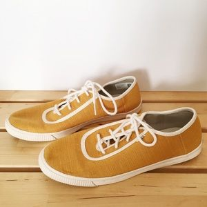 TOMS Yellow Lace Up Sneakers